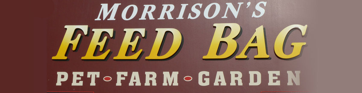 Morrison't Feed Bag Sign